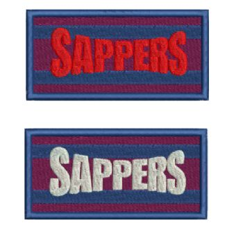 Sappers Embroidered Flash